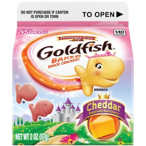 Pepperidge Farm Goldfish Princess Cheddar Crackers 2oz Grab And Go Carton
