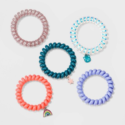 Girls' 5pc Phone Cord with Charms Bracelet Set - Cat & Jack™