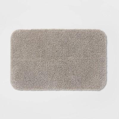 "23""x37"" Perfectly Soft Nylon Solid Bath Rug Gray - Opalhouse™"