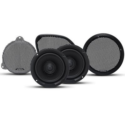 Rockford Fosgate TMS65 Power Harley Davidson 6.5 Inch Full Range Coaxial Motorcycle Speakers with Grilles (Pair)