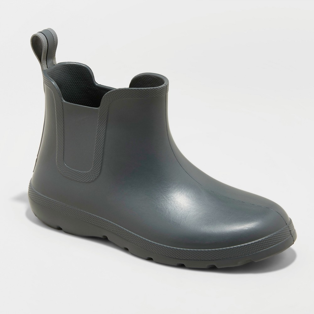 Men's Totes Cirrus Chelsea Rainboots - Gray 8