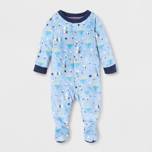 ad9b4388b Baby Hanukkah Footed Sleeper - Wondershop™ Blue 6-9M   Target