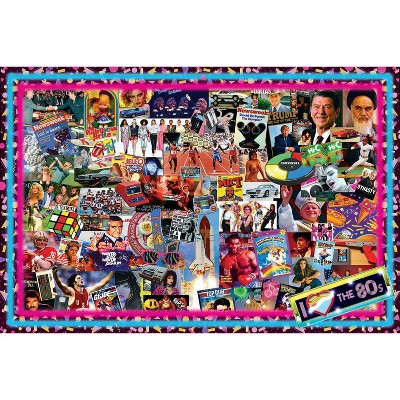 Toynk The Crazy 80's! Retro Puzzle For Adults And Kids | 1000 Piece Jigsaw Puzzle