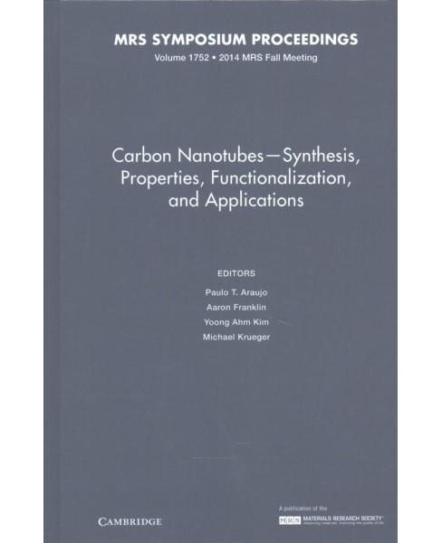 Carbon Nanotubes : Synthesis, Properties, Functionalization, and Applications (Hardcover) - image 1 of 1