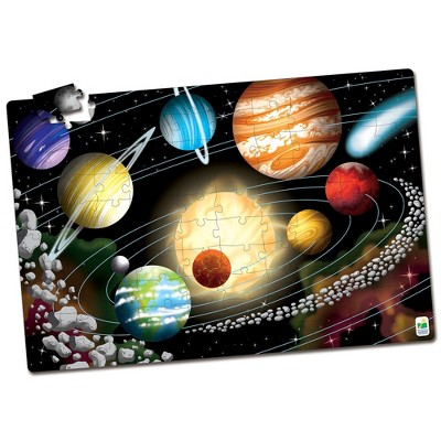 The Learning Journey Puzzle Doubles! Glow in the Dark! Space 100 pcs