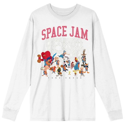 Mens Space Jam 2 A New Legacy Looney Tunes White Long Sleeve Shirt