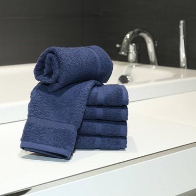 6pk Denzi Turkish Bath Washcloths Twilight Blue - Linum Home Textiles