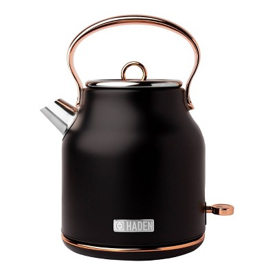 Heritage 1.7 Lt Stainless Steel Electric Kettle with Auto Shut-Off - Copper/Black