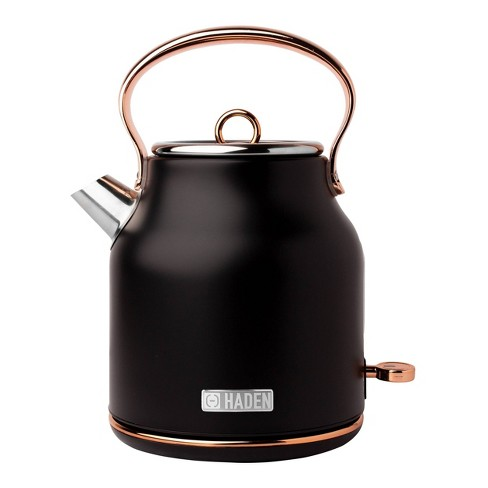 Heritage 1.7 Lt Stainless Steel Electric Kettle with Auto Shut-Off - Copper/Black - image 1 of 4