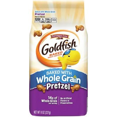 Pepperidge Farm® Goldfish® Baked with Whole Grain Pretzel Crackers, 8oz Bag