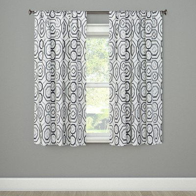 Timmons Curtain Panel Black 84  - Eclipse
