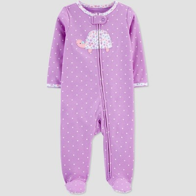 Baby Girls' Turtle One Piece Pajama - Just One You® made by carter's Pink 3M