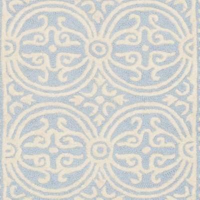 Light Blue/Ivory