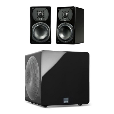 SVS Prime Satellite 2.1 Speaker Package with 3000 Micro Subwoofer (Piano Black)