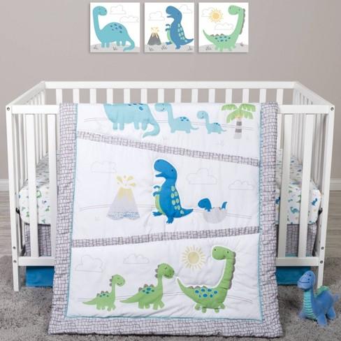 Sammy And Lou Dinosaur Pals Crib, Dinosaur Nursery Crib Bedding