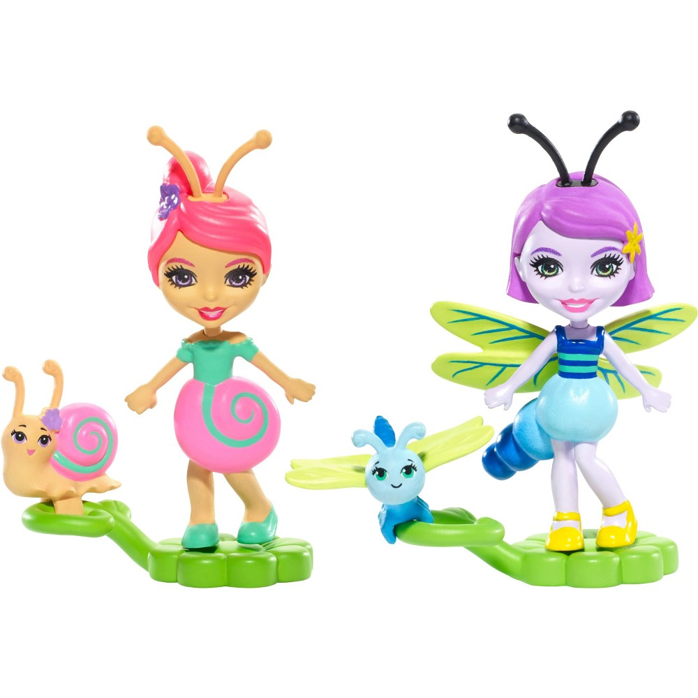 Enchantimals 2pk Saxon Snail & Dara Dragonfly Micro Dolls