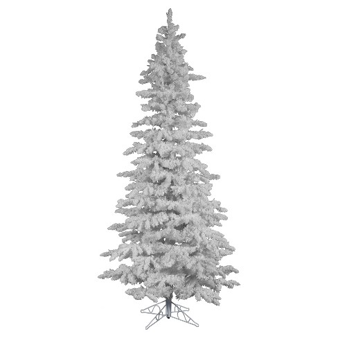75ft flocked white artificial christmas tree full with clear lights