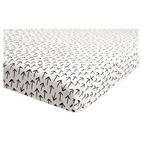 Babyletto Mini Fitted Crib Sheet - Tuxedo Monochrome Arrows - image 1 of 4