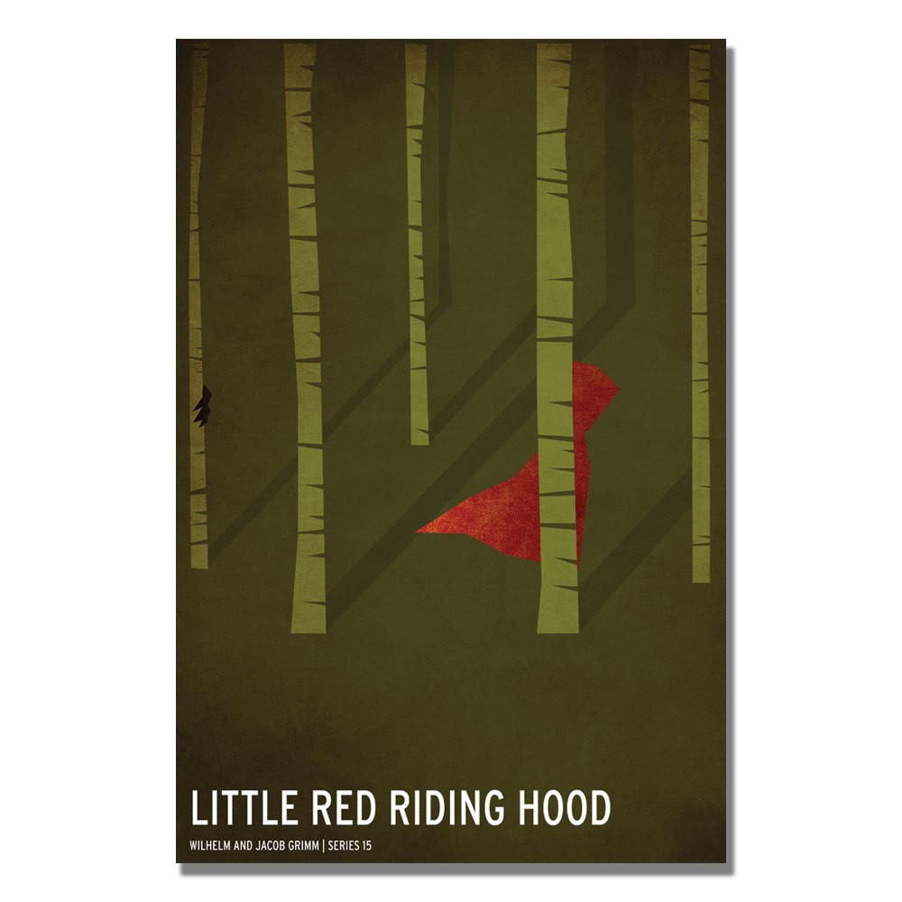 'Red Riding Hood' by Christian Jackson Ready to Hang Canvas Wall Art