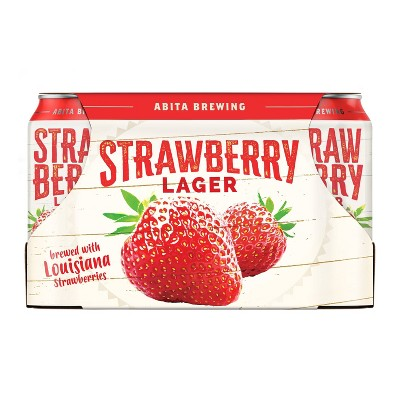 Abita Strawberry Lager Beer - 6pk/12 fl oz Cans