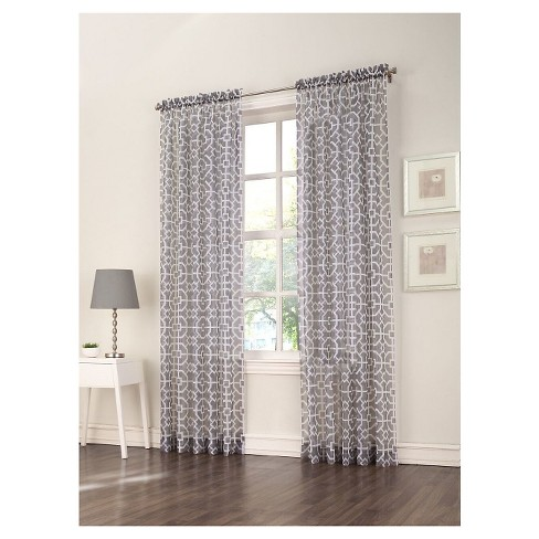 "Aires Curtain Panel Gray (59""x84"") No. 918 - image 1 of 1"