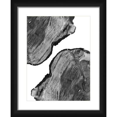 """18"""" x 22"""" Matted to 2"""" Wood Shape Framed Black - PTM Images"""