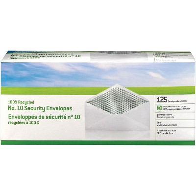 MyOfficeInnovations #10 100% Recycled Business Envelopes, 125/Box