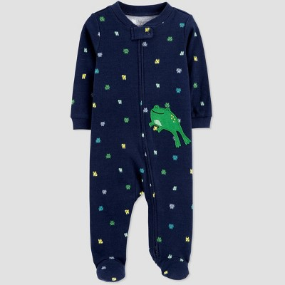 Baby Boys' Frog One Piece Pajama - Just One You® made by carter's Blue 3M