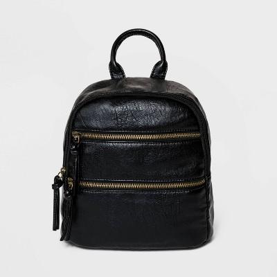 Bueno Mini Zip Closure Backpack - Black