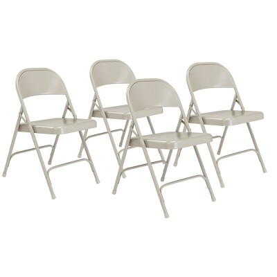 Set of 4 Heavy Duty All Steel Folding Chairs - Hampton Collection