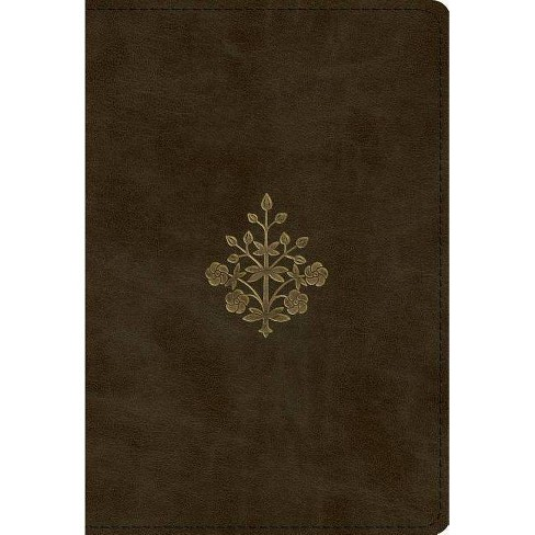 ESV Large Print Compact Bible (Trutone, Olive, Branch Design) - (Leather_bound) - image 1 of 1