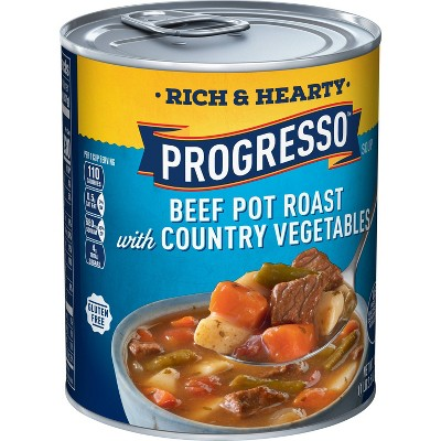 Progresso Rich & Hearty Beef Pot Roast with Country Vegetables Soup 18.5oz