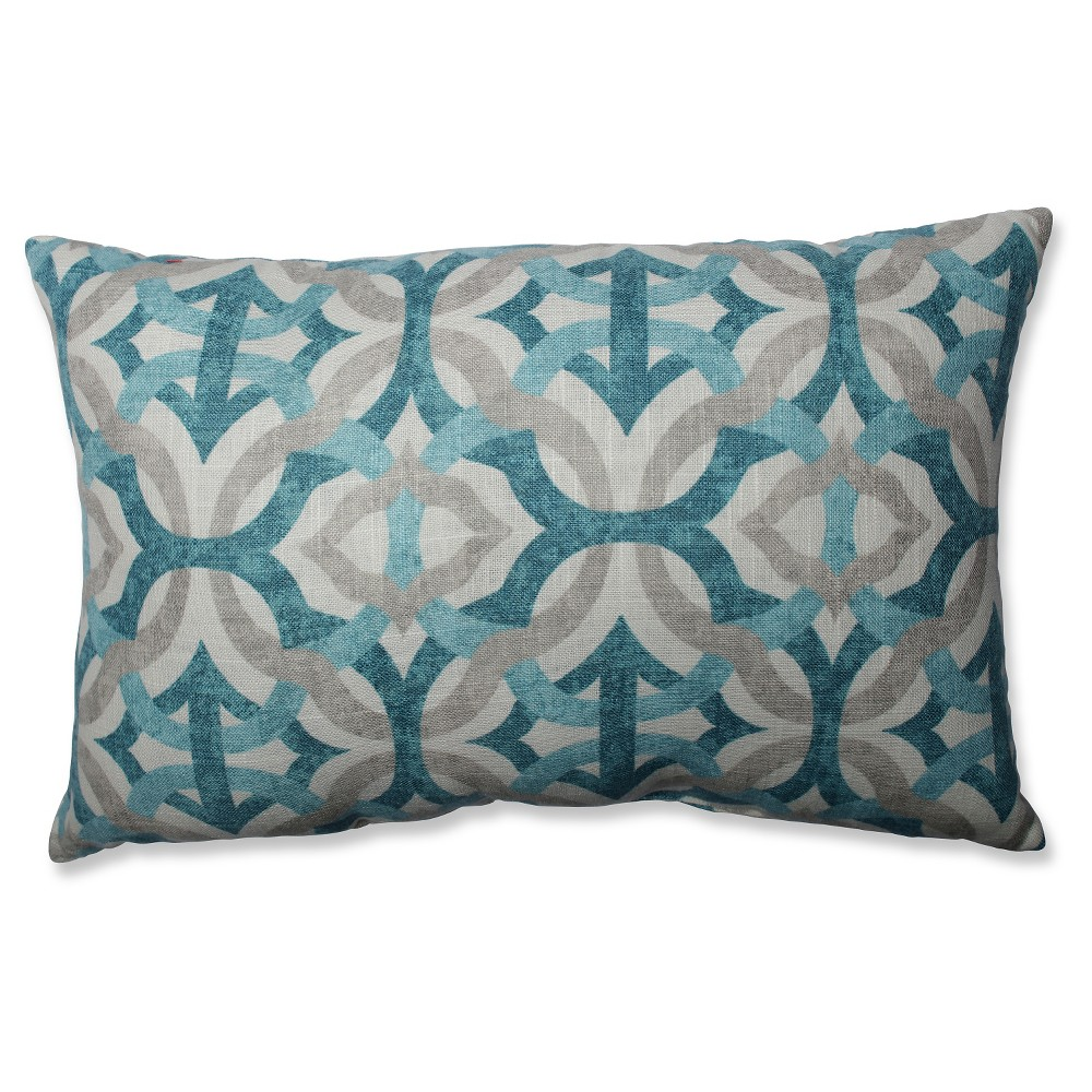 Gray Tipton Frost Throw Pillow (18.5x11.5) - Pillow Perfect, Blue