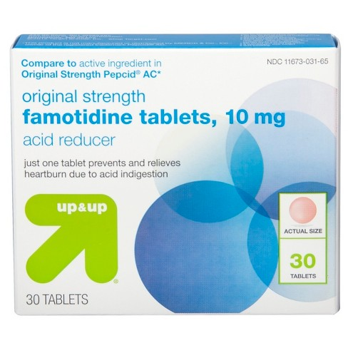 Famotidine 10mg Original Strength Acid Reducer Tablets - 30ct - Up&Up™ (Compare to active ingredient in Original Strength Pepcid AC) - image 1 of 3