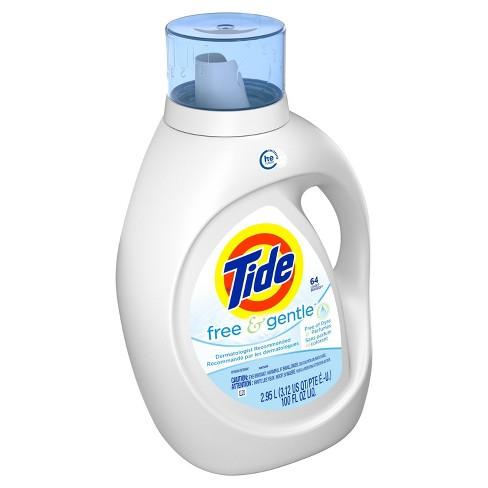 Tide Free And Gentle High Efficiency Liquid Laundry Detergent 100 Fl Oz Target
