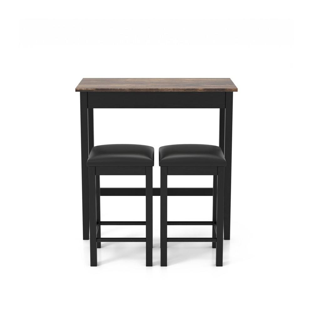 Discounts 3pc Caton Counter Height Dining Set Black - miBasics