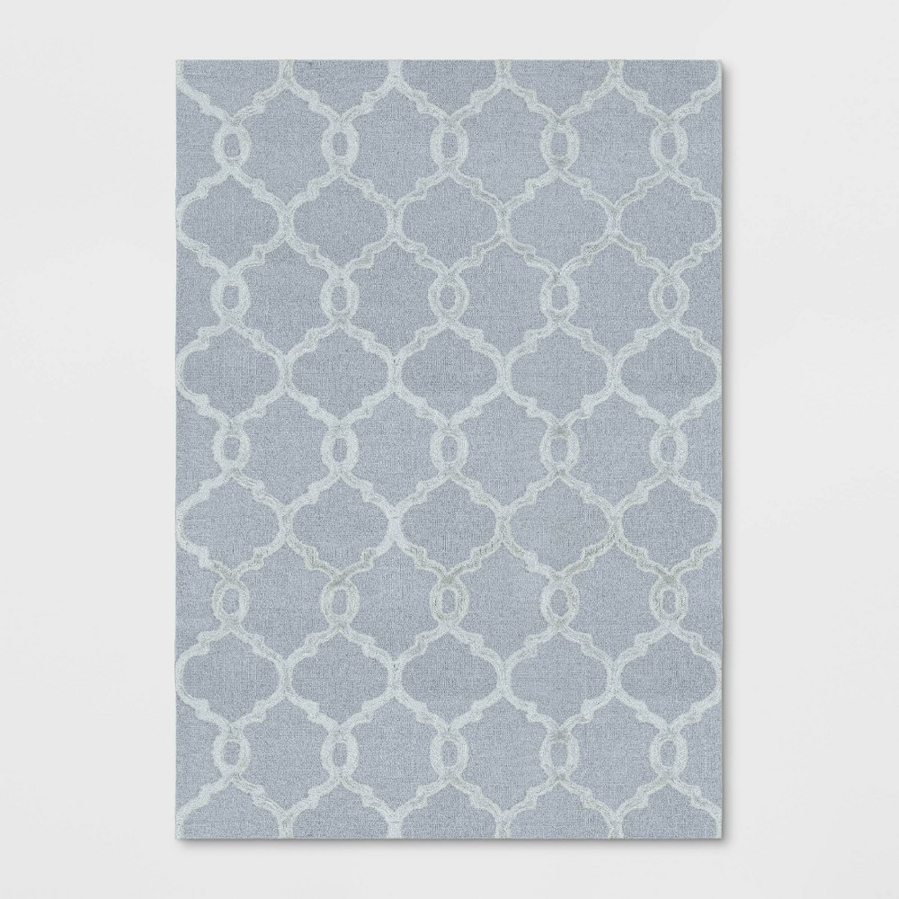 7'X10' Trellis Tufted Viscose Area Rug Gray - Opalhouse was $299.99 now $149.99 (50.0% off)