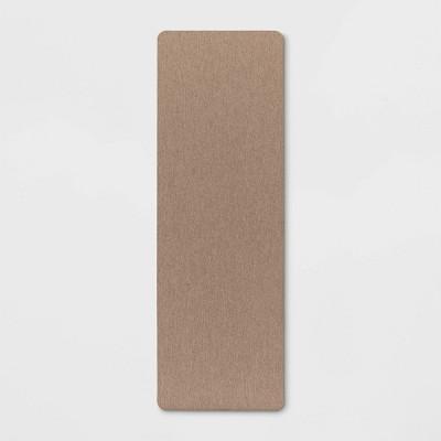 "60""x20"" Linen Herringbone Kitchen Runner Brown - Threshold™"