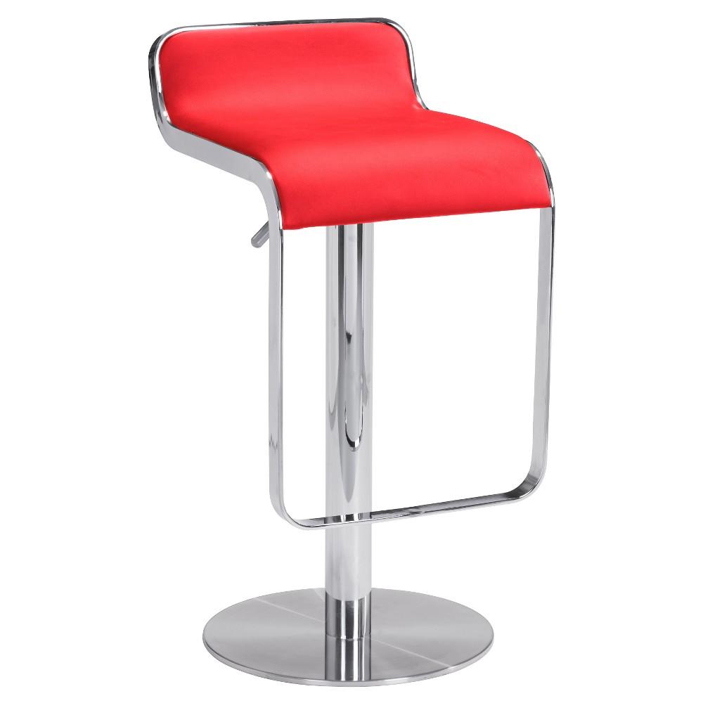 Sleek Adjustable 27 Barstool - Red - ZM Home