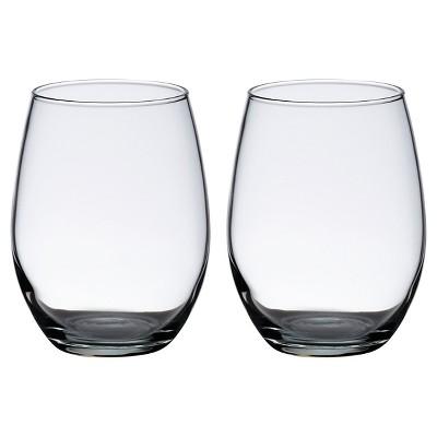 15oz 2ct Stemless Wine Glasses