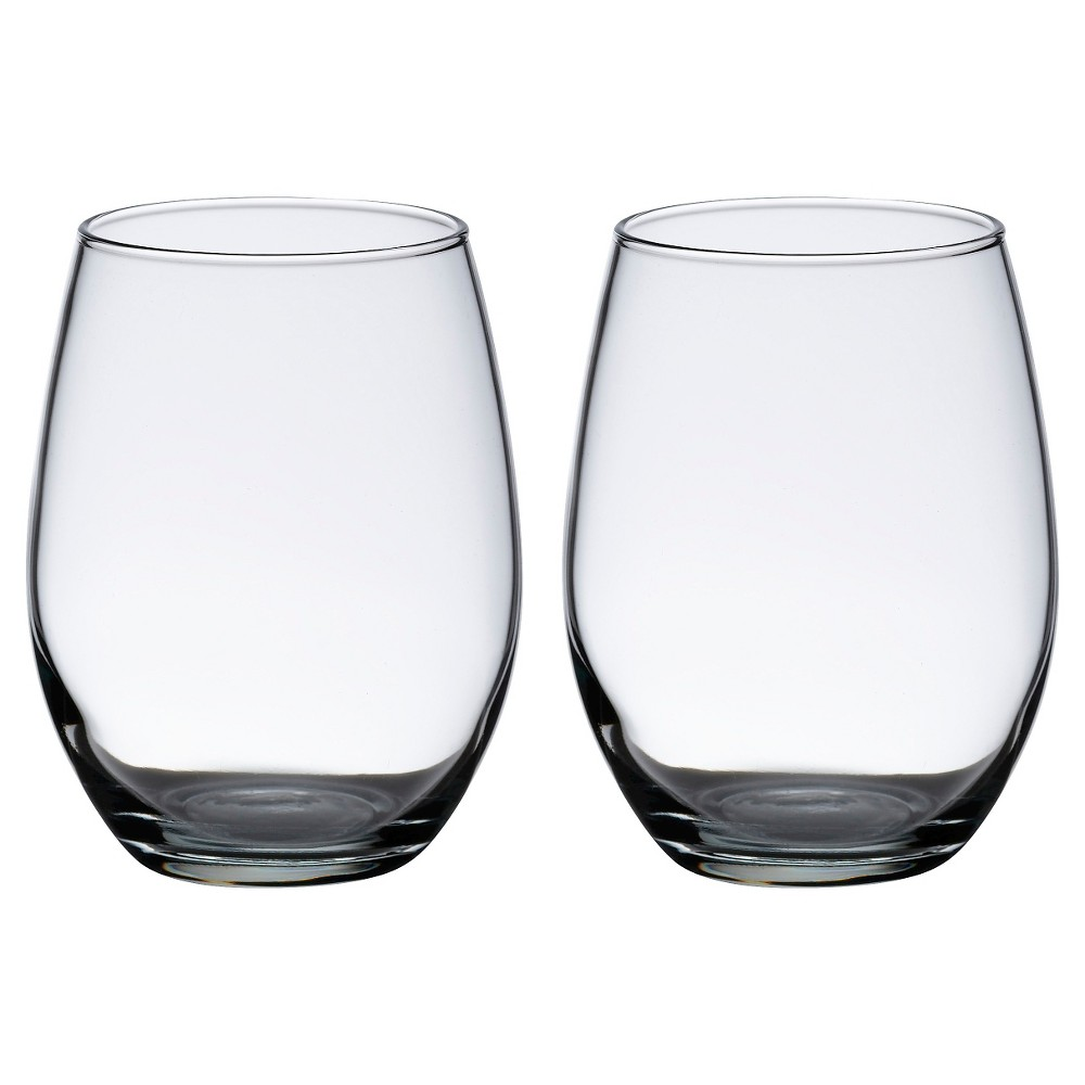Image of 2ct Stemless Wine Glasses, Clear