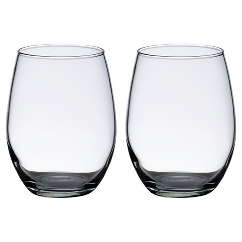 2ct Stemless Wine Glasses Target