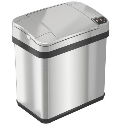 iTouchless Sensor Bathroom Trash Can with AbsorbX Odor Filter and Fragrance 2.5 Gallon Silver Stainless Steel