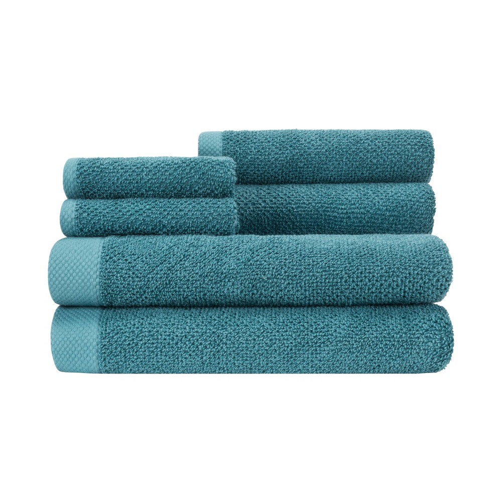 Image of 6pc Adele Towel Set Teal - Caro Home