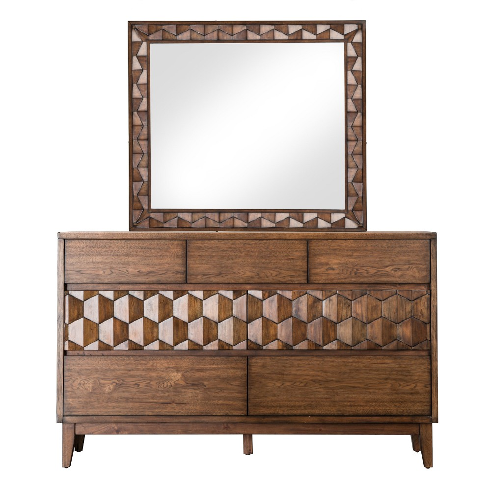 Iohomes Hirano Transitional Felt Lined Top Drawer Dresser And Mirror Set - Homes: Inside + Out