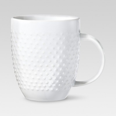 Beaded Porcelain Coffee Mug 15oz - White - Threshold™