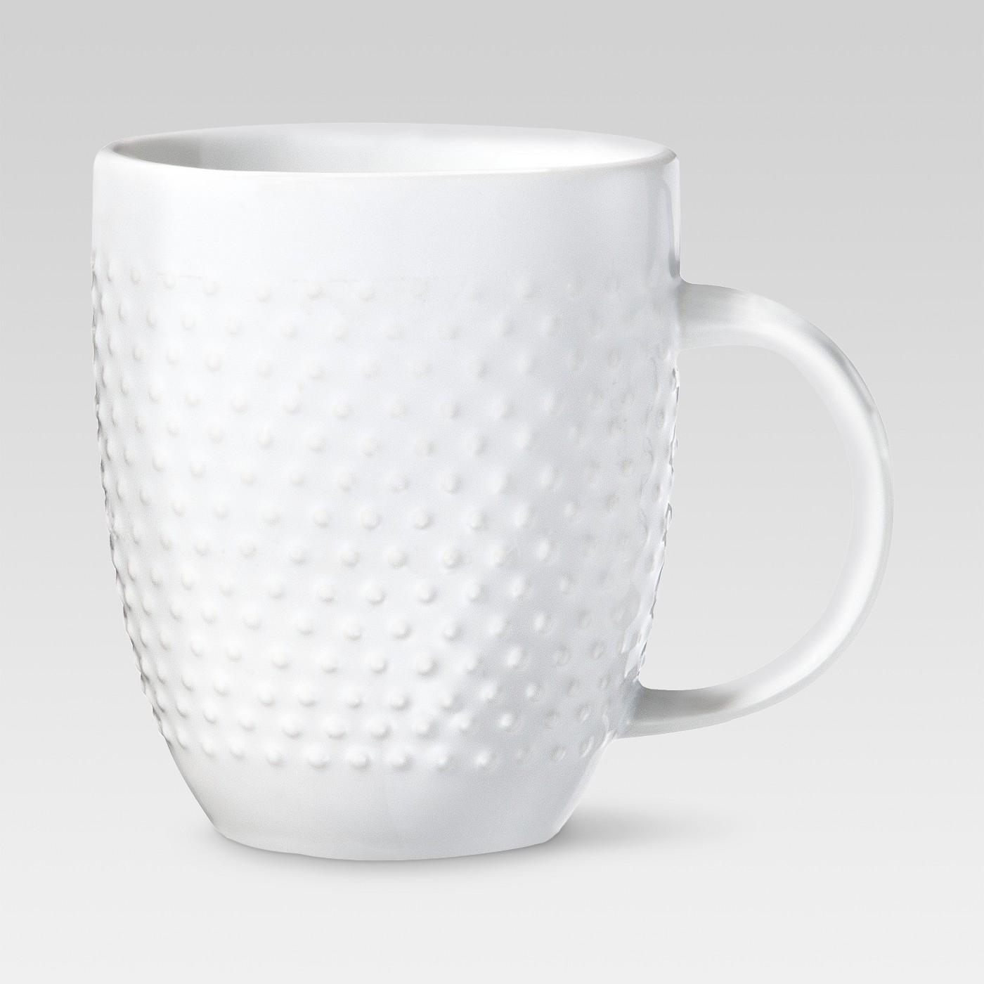 15oz Porcelain Beaded Mug White - Threshold™ - image 1 of 1