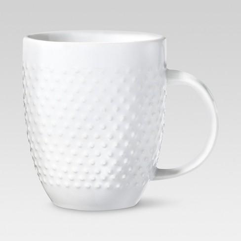 Beaded Porcelain Coffee Mug 15oz - White - Threshold™ - image 1 of 1