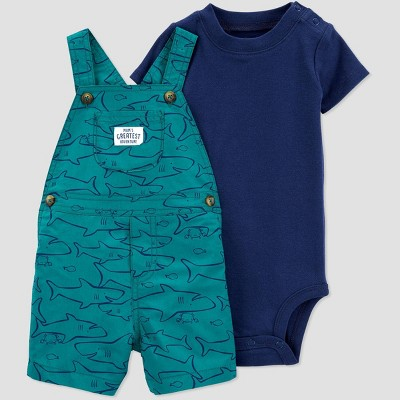 Baby Boys' 2pc Shark Top & Bottom Set - Just One You® made by carter's Blue 9M