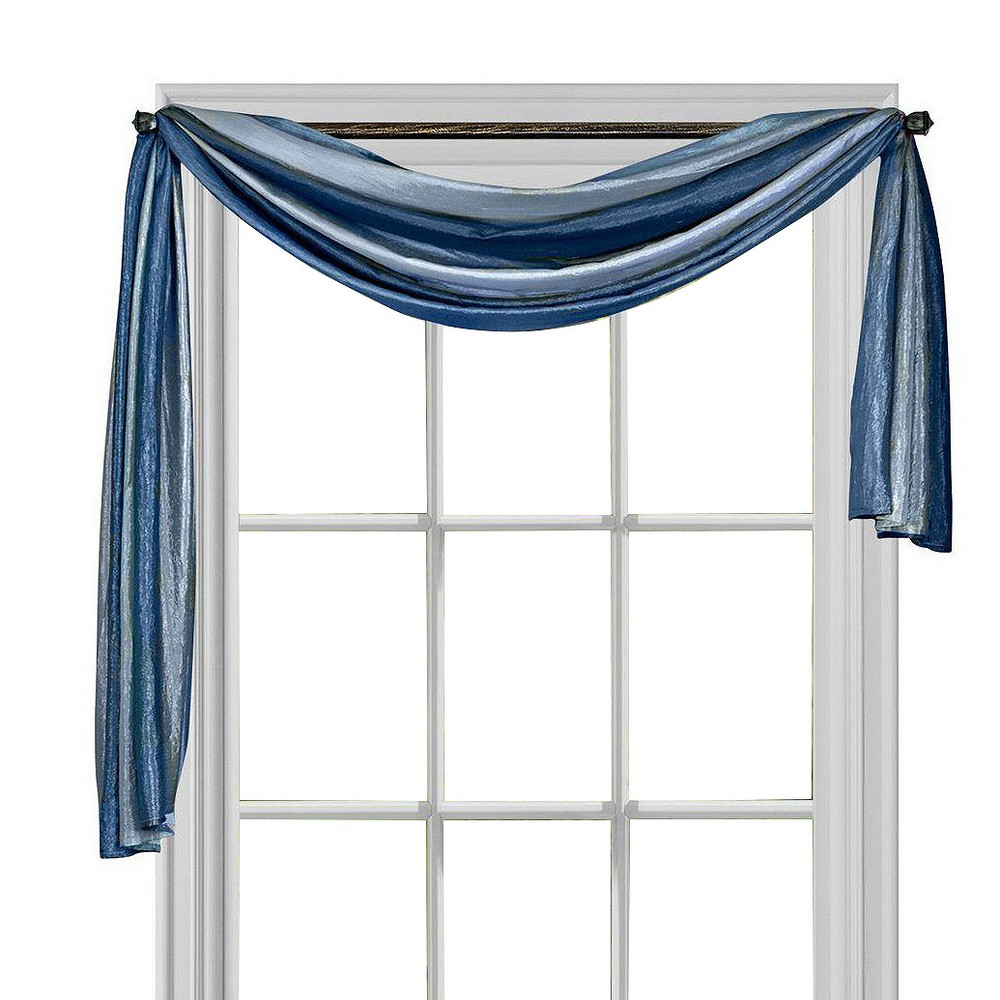 Ombre Window Curtain Scarf Blue (50x144) - Achim
